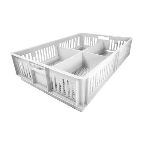 Caja para pollitos con división calada